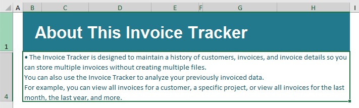Bullet point Excel added