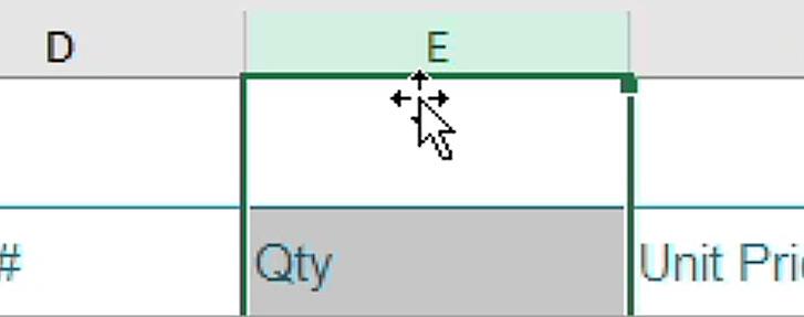 Four way arrows Excel