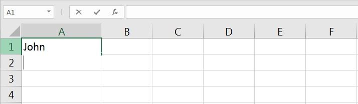 New line cursor Excel