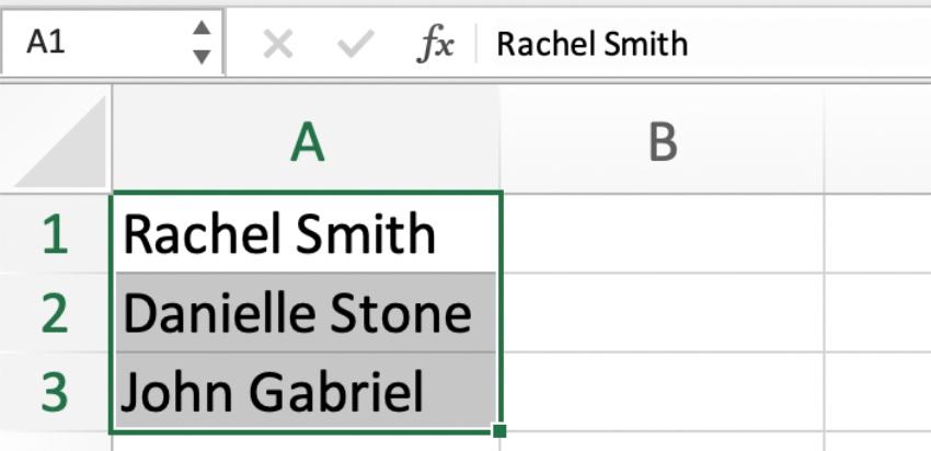 Split cells in Excel