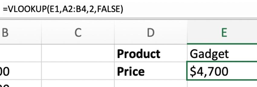 Vlookups in Microsoft Excel