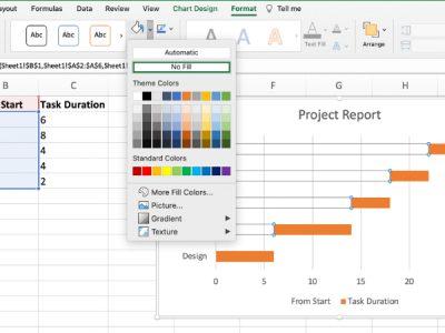 make a gantt chart in Excel