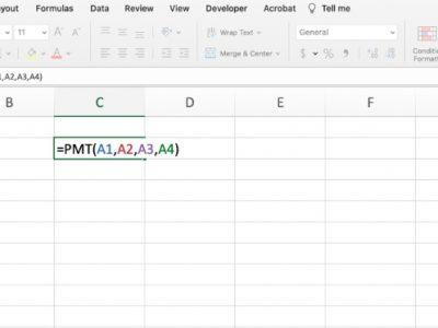 PMT function in Excel
