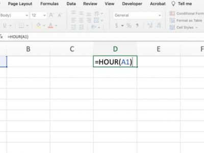 Hour in Excel