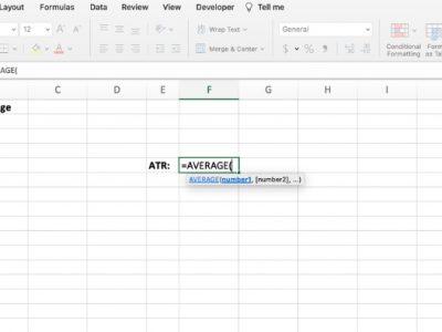 Average true range in Excel