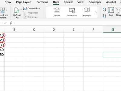 Circle invalid data in Excel