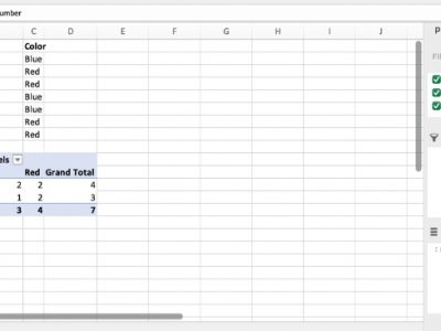 How to do a contingency table in Excel