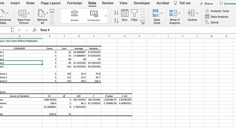 How to do factor analysis in Excel