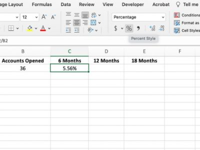 How to use vintage analysis in Microsoft Excel