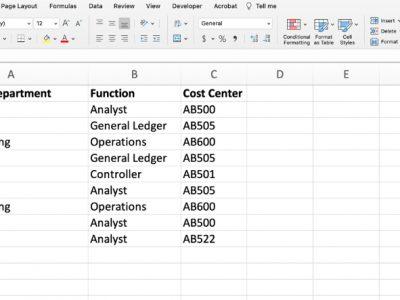 Taxonomy Excel